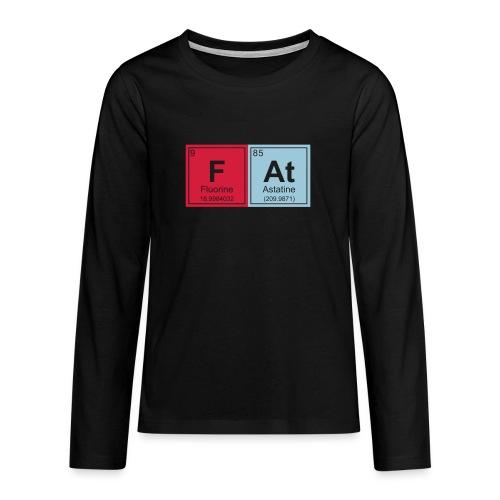 Geeky Fat Periodic Elements - Teenagers' Premium Longsleeve Shirt