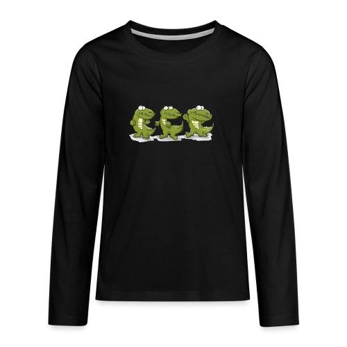 Nice krokodile - Teenager Premium Langarmshirt