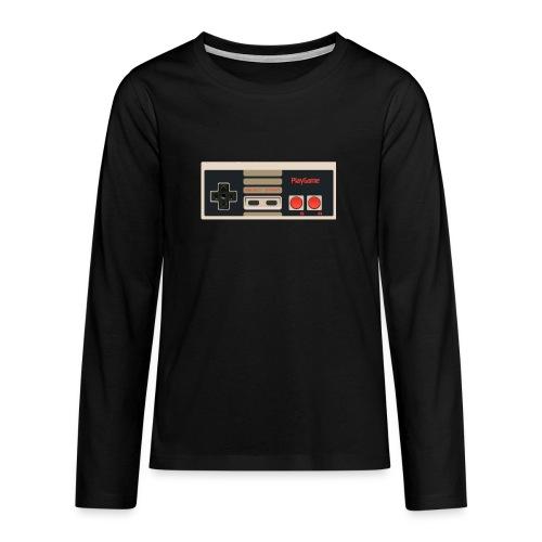 Gaming - Långärmad premium T-shirt tonåring