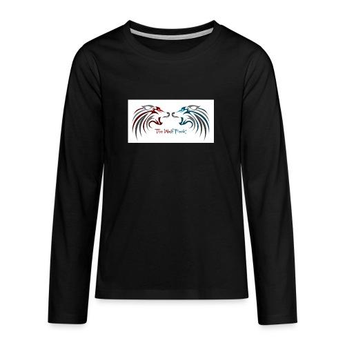 Jeffery - Premium langermet T-skjorte for tenåringer