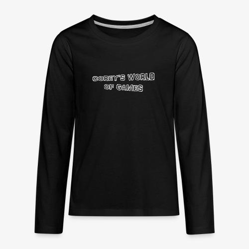 Coreys World Of Games - Teenagers' Premium Longsleeve Shirt