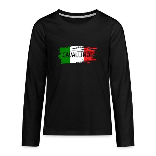 Cavallino auf Flagge - Teenager Premium Langarmshirt