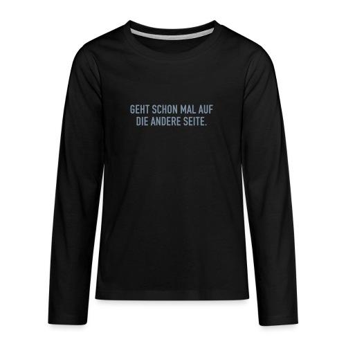 Rückentext 2 - Teenager Premium Langarmshirt