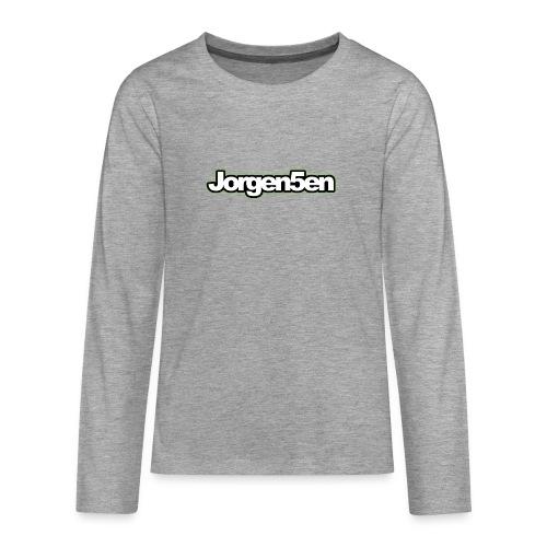tshirt - Teenager premium T-shirt med lange ærmer