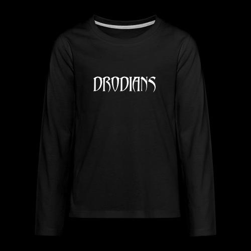 DRODIANS WHITE - Teenagers' Premium Longsleeve Shirt