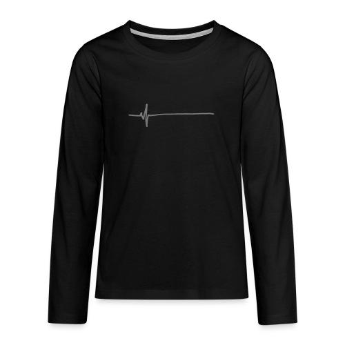 Flatline - Teenagers' Premium Longsleeve Shirt