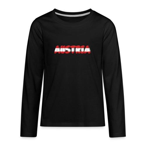 Austria Textilien und Accessoires - Teenager Premium Langarmshirt