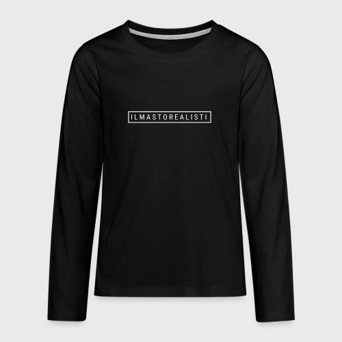 Ilmastorealisti - Teinien premium pitkähihainen t-paita
