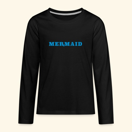 Mermaid logo - Långärmad premium T-shirt tonåring