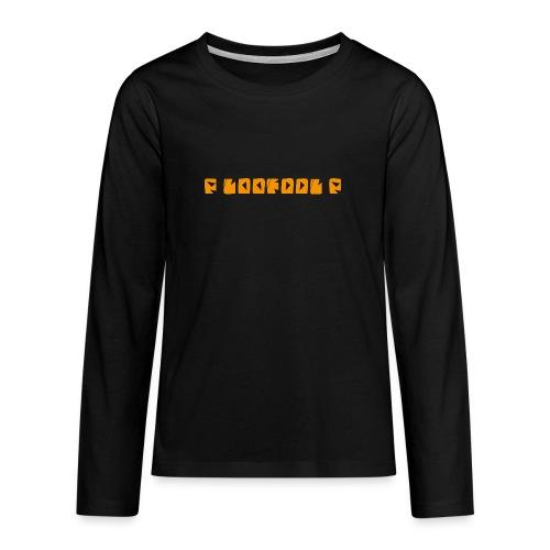 P loofool P - Orange logo - Premium langermet T-skjorte for tenåringer