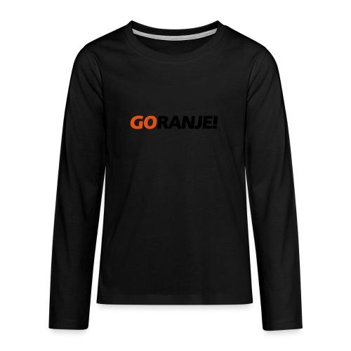 Go Ranje - Goranje - 2 kleuren - Teenager Premium shirt met lange mouwen
