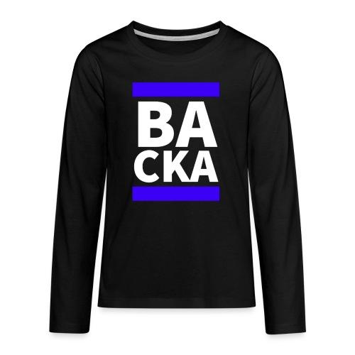 Backa - Långärmad premium T-shirt tonåring