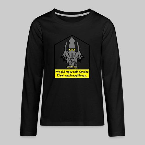 Cthulhu träumt in seinem Haus in R'lyeh - Teenager Premium Langarmshirt