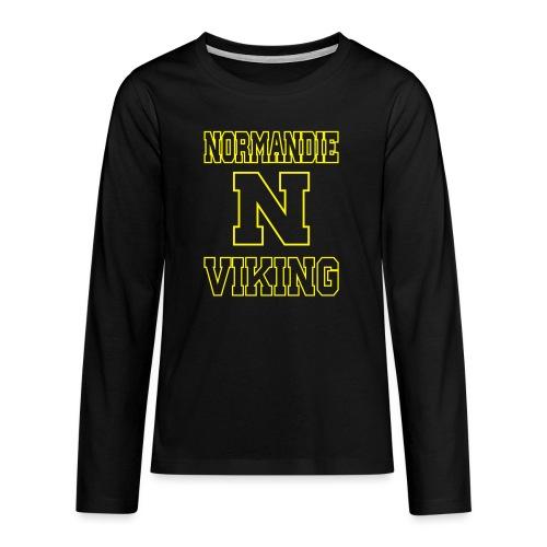 Normandie Viking Def jaune - T-shirt manches longues Premium Ado