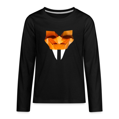 Origami Saber Toothed Tiger Mask - Origami Tiger - Teenagers' Premium Longsleeve Shirt