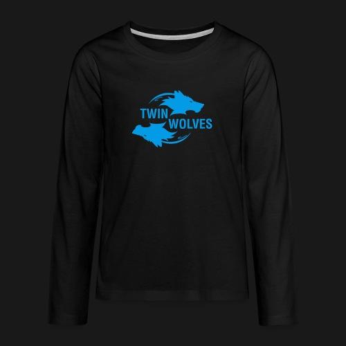Twin Wolves Studio - Maglietta Premium a manica lunga per teenager