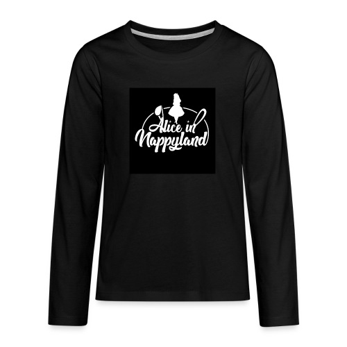 Alice in Nappyland TypographyWhite 1080 - Teenagers' Premium Longsleeve Shirt
