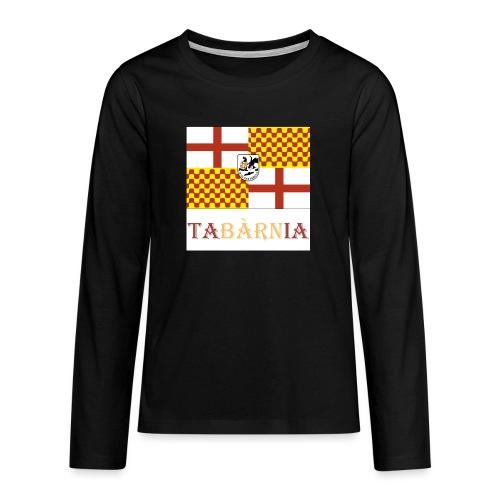 Bandera Tabarnia con escudo y nombre - Camiseta de manga larga premium adolescente