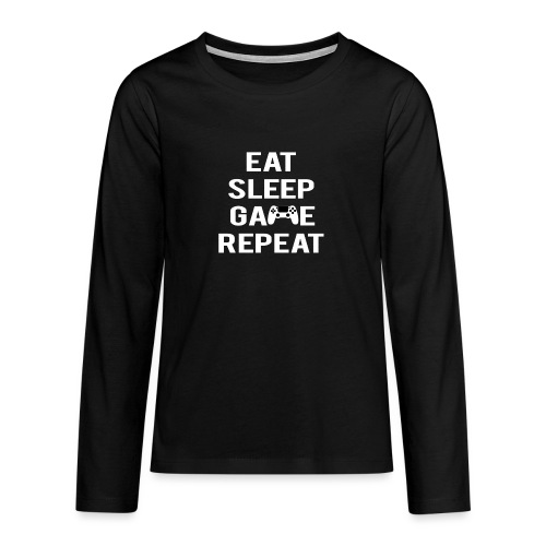 Eat, sleep, game, REPEAT - Teenagers' Premium Longsleeve Shirt