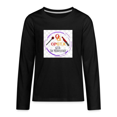 opgta logo - Teinien premium pitkähihainen t-paita