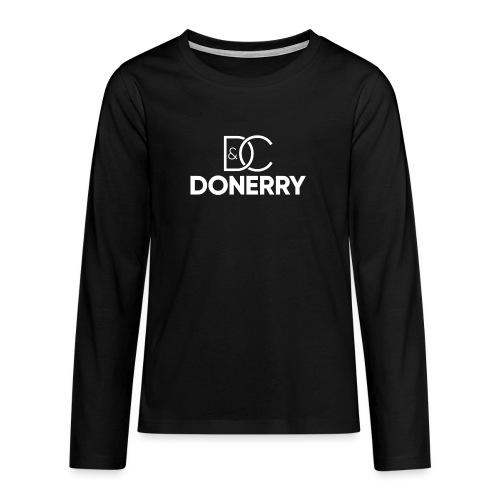 DONERRY New White Logo on Dark - Teenagers' Premium Longsleeve Shirt