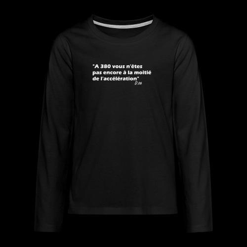 380 (blanc) - T-shirt manches longues Premium Ado