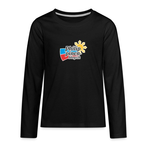 Das original Philippinen-Blog Logo - Teenager Premium Langarmshirt