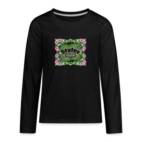 Styler Bloemen Design - Teenager Premium shirt met lange mouwen