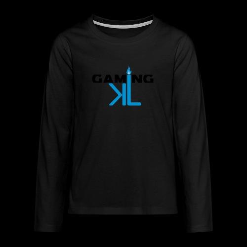 Kassu_L LOGO - Teinien premium pitkähihainen t-paita