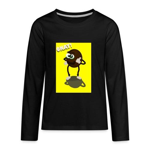 Kiwi - Teinien premium pitkähihainen t-paita