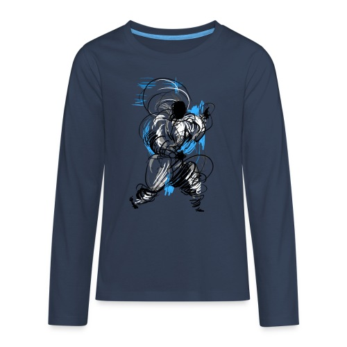 Kung Fu wizard - Teenagers' Premium Longsleeve Shirt