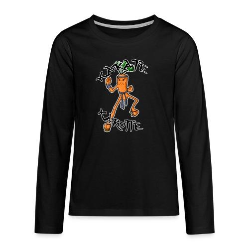 KarateKarotteTexte - T-shirt manches longues Premium Ado