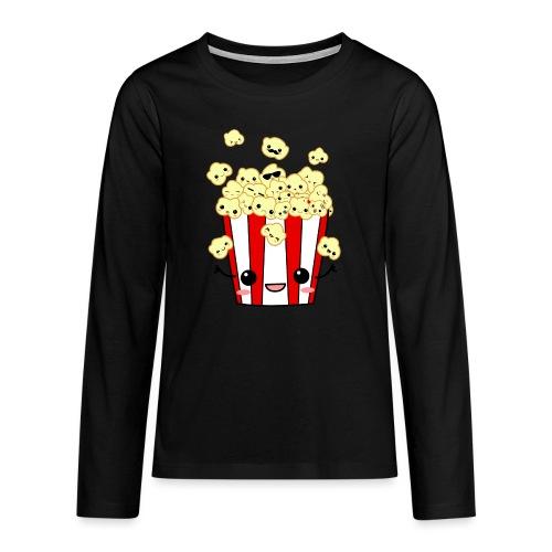 PopCorn - Camiseta de manga larga premium adolescente
