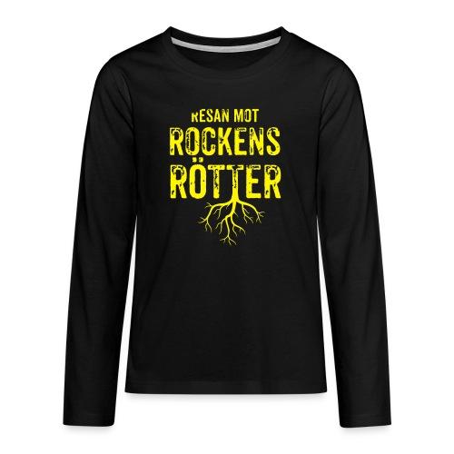 Fotbollströja svart. Resan mot rockens rötter. - Långärmad premium T-shirt tonåring