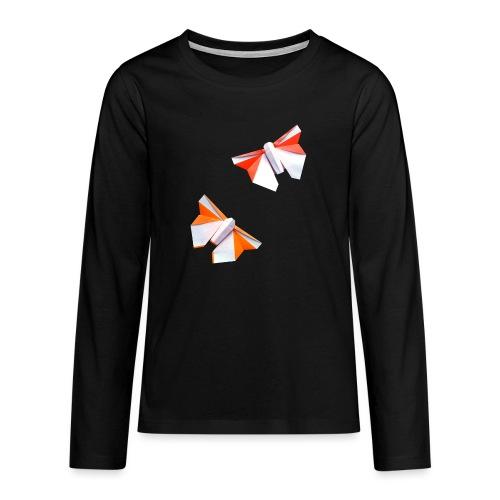 Butterflies Origami - Butterflies - Mariposas - Teenagers' Premium Longsleeve Shirt