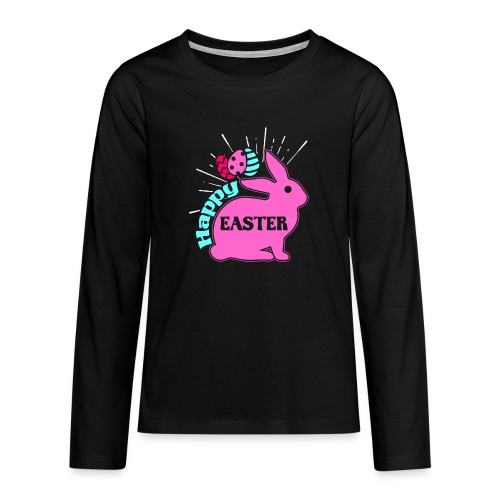 Happy Easter - Frohe Ostern - Teenager Premium Langarmshirt