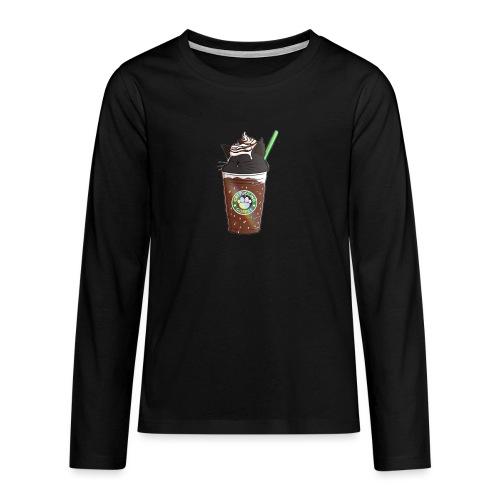 Catppucino Dark Chocolate - Teenagers' Premium Longsleeve Shirt