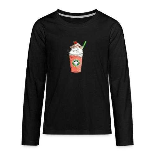 Catpuccino White - Teenagers' Premium Longsleeve Shirt
