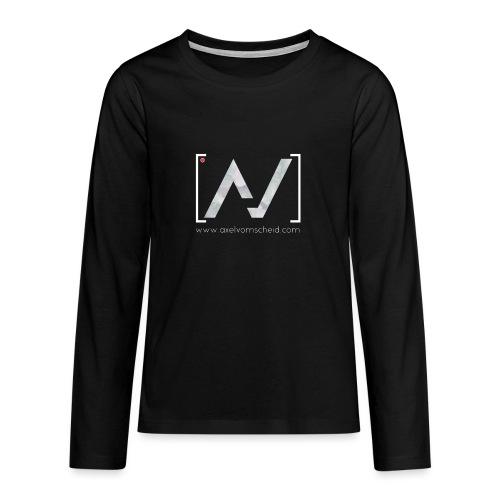 logoalpha blanc - T-shirt manches longues Premium Ado