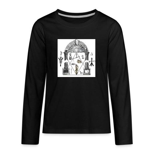A foot Littler - Långärmad premium T-shirt tonåring