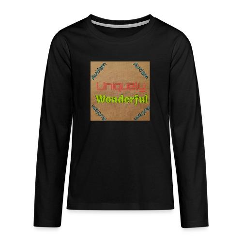 Autism statement - Teenagers' Premium Longsleeve Shirt