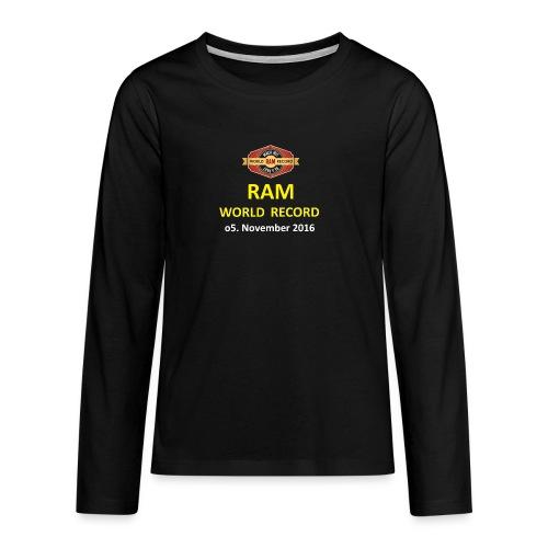RWR gelb mit Datum (weiß) - Teenager Premium Langarmshirt