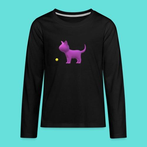 chat - T-shirt manches longues Premium Ado