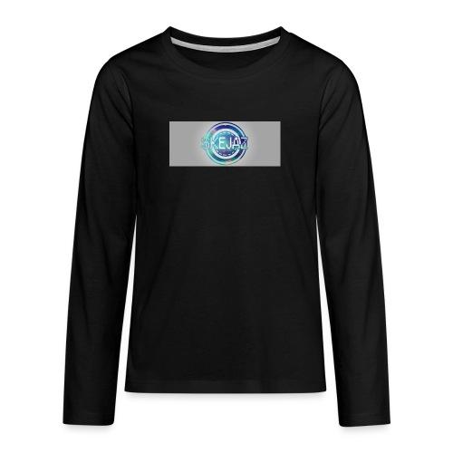 LOGO WITH BACKGROUND - Teenagers' Premium Longsleeve Shirt