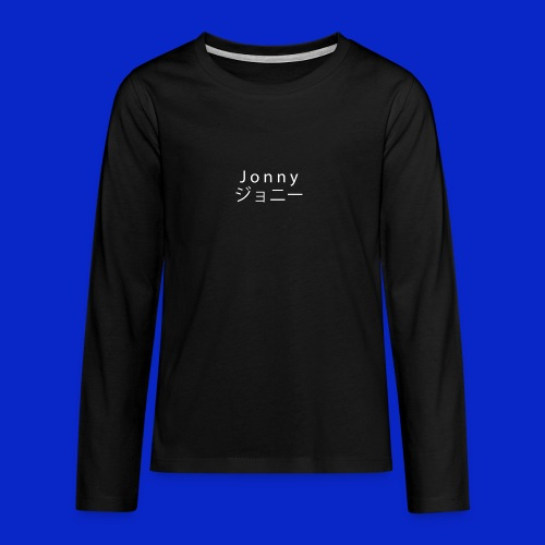 J o n n y (white on black) - Teenagers' Premium Longsleeve Shirt
