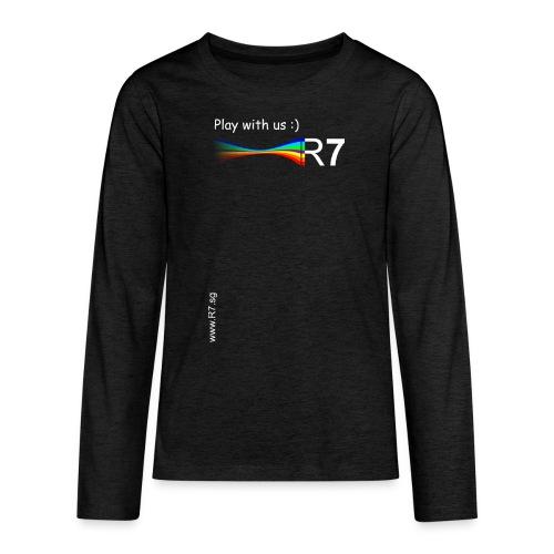 R7 TShirt2W png - Teenager Premium Langarmshirt