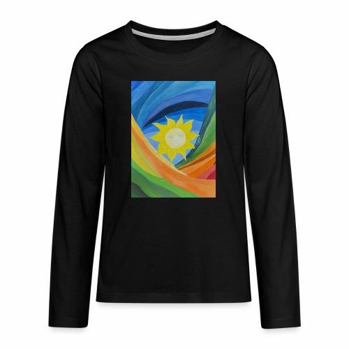 lachende-sonne - Teenager Premium Langarmshirt