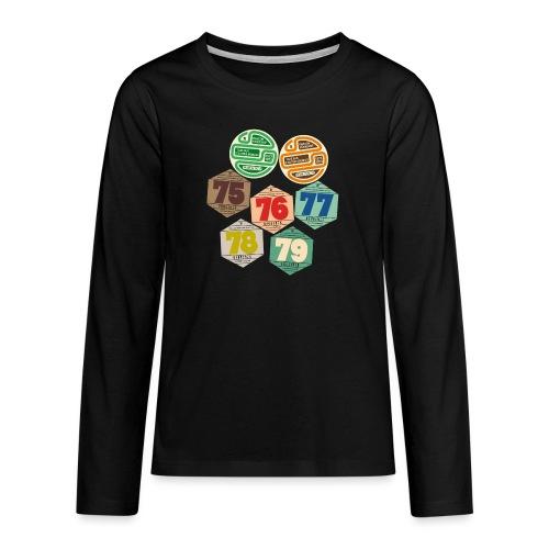 Vignettes automobiles années 70 - T-shirt manches longues Premium Ado