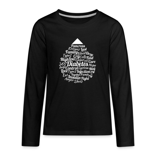 CURE DIABETES - Teenagers' Premium Longsleeve Shirt
