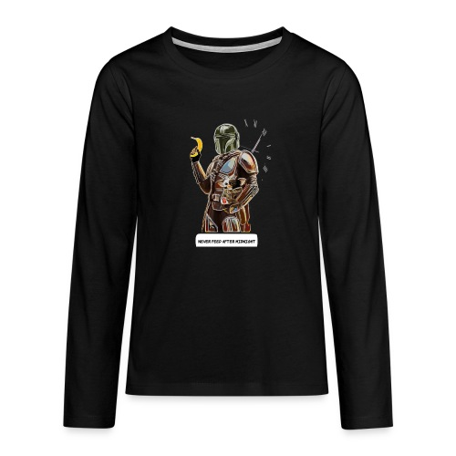 Never Feed After Midnight - Teenagers' Premium Longsleeve Shirt
